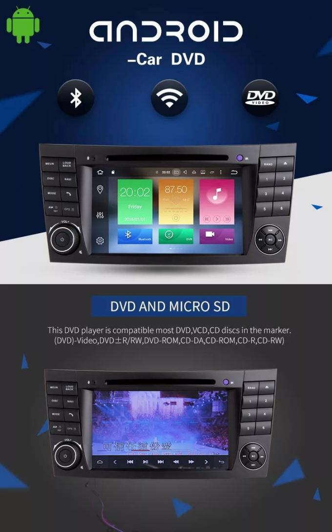 4+32G Car Multimedia Mercedes Benz DVD Player With Rear Camera AUX