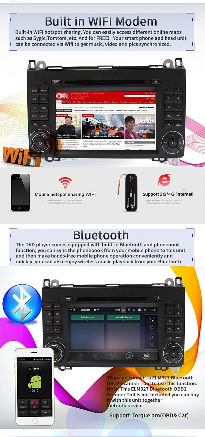 Android 8.0 Mercedes Benz DVD Player With 4+32G BT WIFI DTV Google Map TPMS