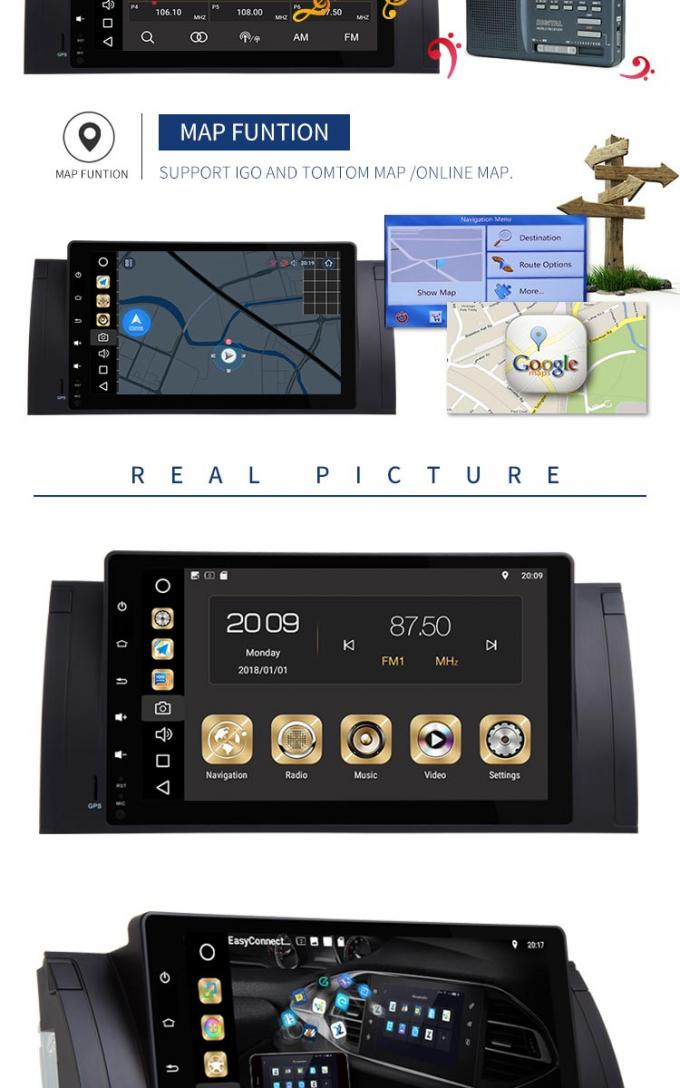 "Car DVD 9"" HD Touch Screen Bmw E39 Dvd Navigation Player MP5 High Resolution"