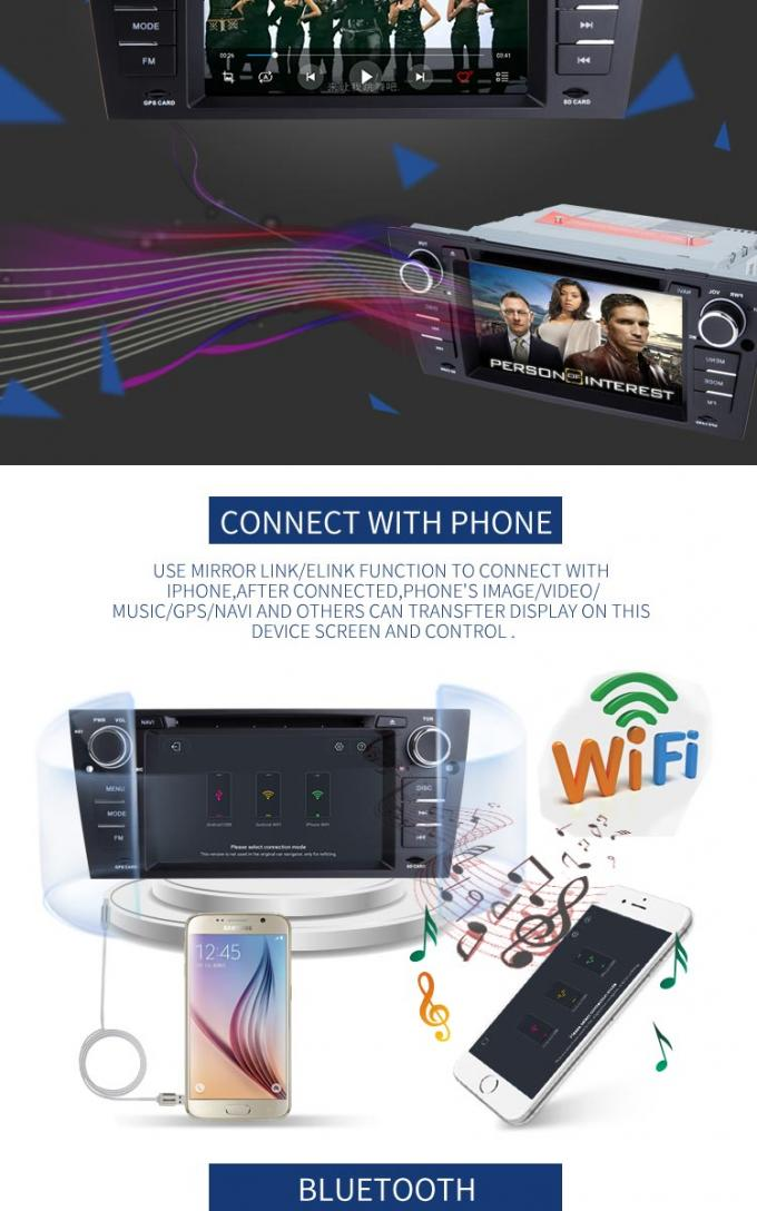 Car Auto Radio BMW GPS DVD Player PX6 Android 8 1 System