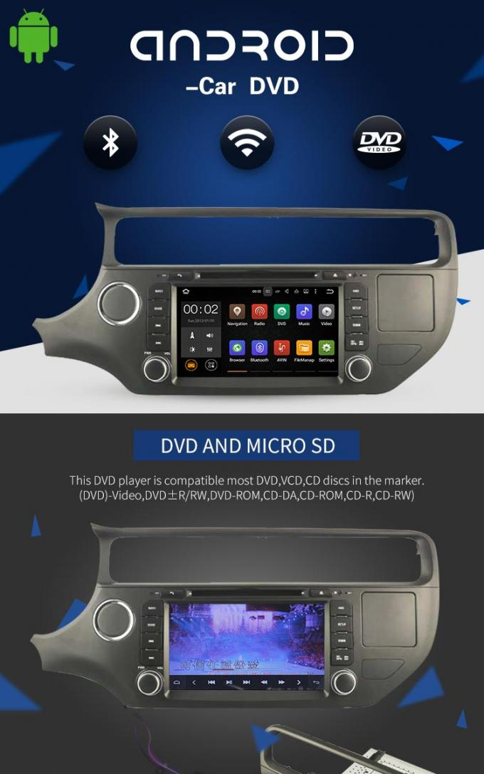 PX3 4core Android Car DVD Player Navigation DVD Player For KIA RIO