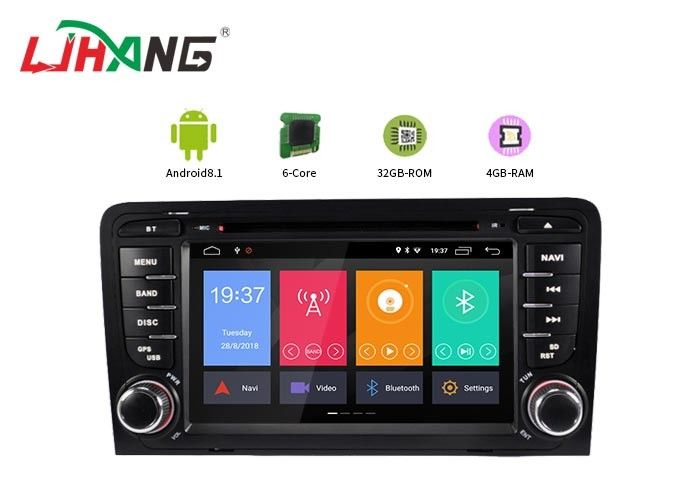 4+32G Audi Android Car Dvd Player Built - In GPS With BT GPS DVR Mirror